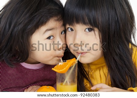 orange and girl