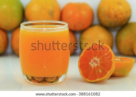 Orange and half orange on white background #388161082