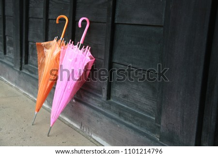 Orange and pink umbrellas #1101214796