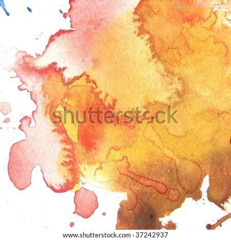 Orange Watercolor Splatter Abstract watercolor splash