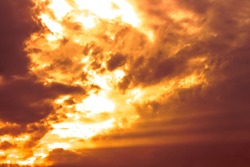 orange and red hot Flame cloudy in dramatic sky,burn clouds