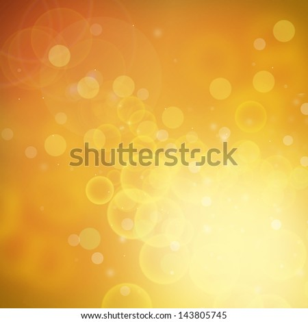 Orange and Yellow Background Bokeh and out of focus lights