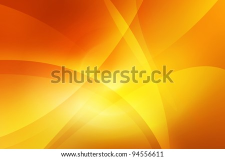 Orange and yellow background of abstract warm curves