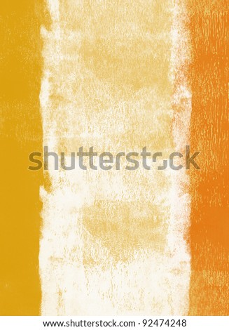 Orange and yellow rolled paint background