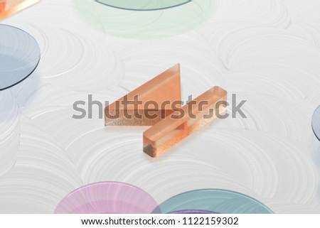 Orange Arrow Step Forward Glass Icon on the White Painted Background. 3D Illustration of Orange Arrow, Forward, Move Forward, Next, Next Step Icon Set on the White Background.
