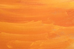 orange artistic abstract painted texture on paper background