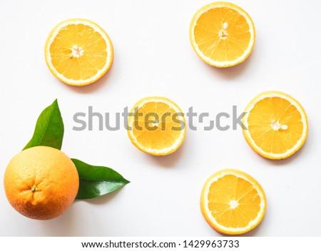 Orange background, orange background, slice of orange can be used as a background