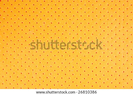 orange background with in a number of openings