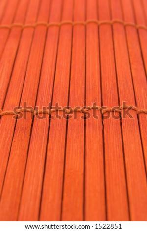 Orange backgrounds on wooden deck - stock photo