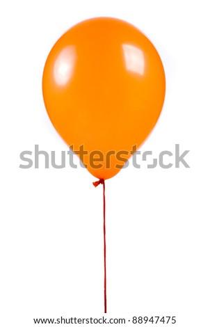 Orange balloon on white background