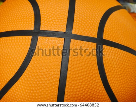 orange basket ball close up
