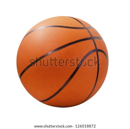 Orange  basket ball, isolated in white background and path