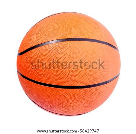 Orange basket ball over white background. Isolated image