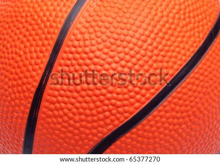 Orange Basketball Close Up Texture Background Image.