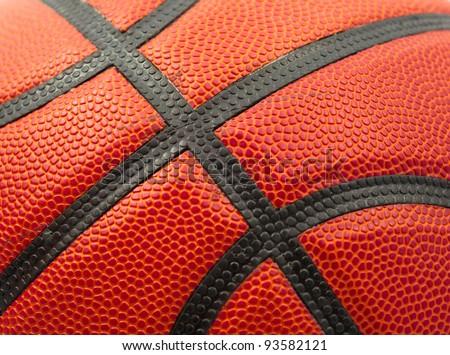 Orange Basketball texture close up