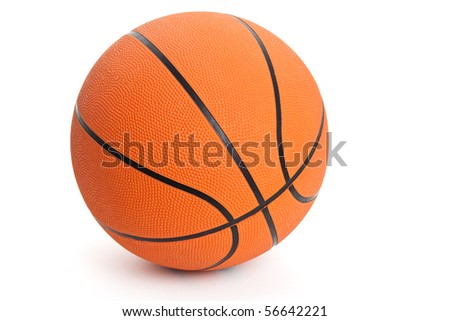 Orange Basketball with white background