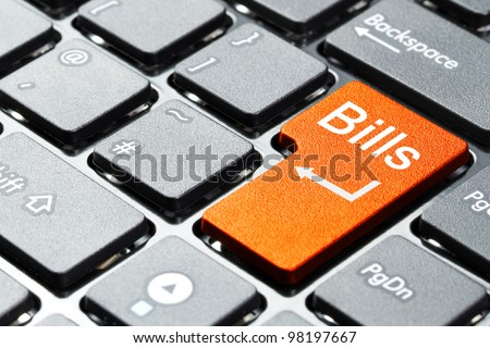 Orange bills button on the keyboard