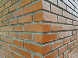 Orange block masonry By skilled builders and experienced in construction