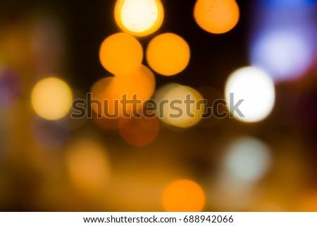 Orange bokeh, bokeh background, bokeh light #688942066