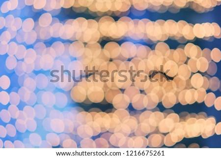 Orange bokeh, bokeh background, bokeh light, blue background and orange bokeh #1216675261