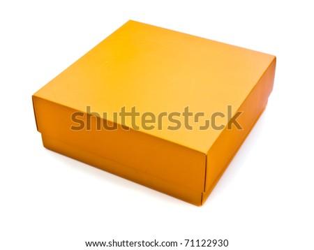 Orange box on white background
