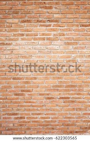 Orange brick wall. Brick wall texture pattern or brick wall background #622303565