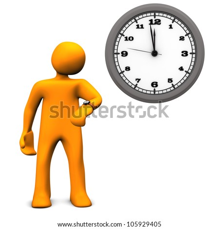 Characters Wall Clock With a Wall Clock on The