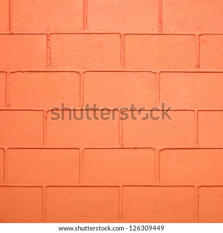 Orange color brick wall