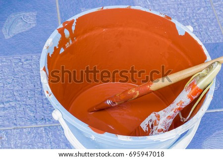 orange color in the paint...