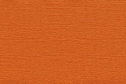 Orange colored plain textured cardstock background image. Color swatch shade with copy space.
