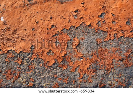 Orange concrete