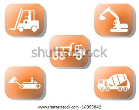 Orange Cement Mixer Buttons Cement Mixer Truck