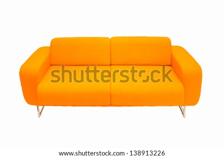 orange couch isolated