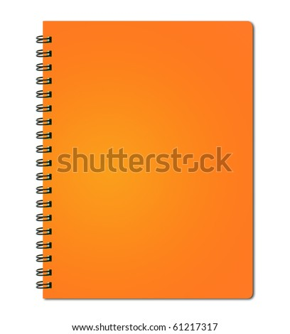 Orange cover of notebook