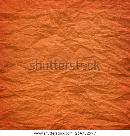 Orange crepe paper background