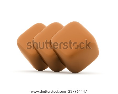 Orange cubes icon concept rendered on white background isolated #237964447