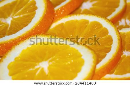 Orange cut into large chunks #284411480