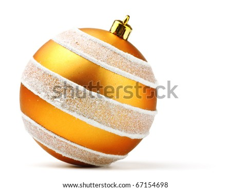 orange decoration ball isolated on white