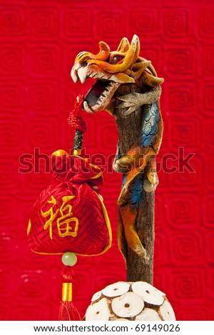 Orange Dragon in Chinese New Year