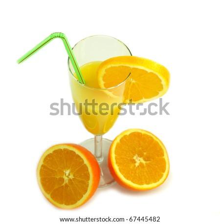 Orange drink isolated on white background #67445482