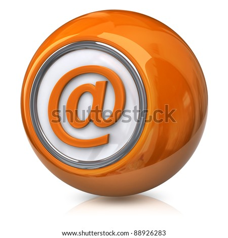 Orange E-mail icon