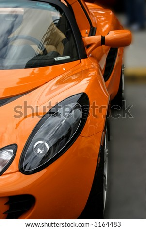 orange exotic sports car