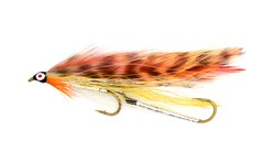 Orange fishing streamer style fly
