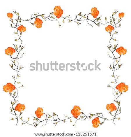 Page Borders Orange Orange Floral Border With