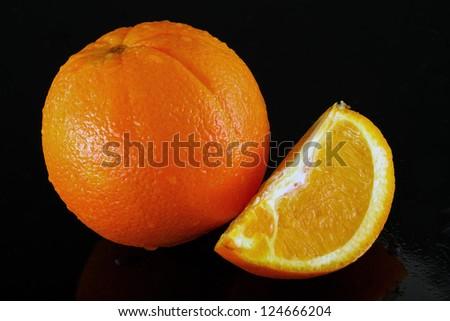 Orange Fruit in black background