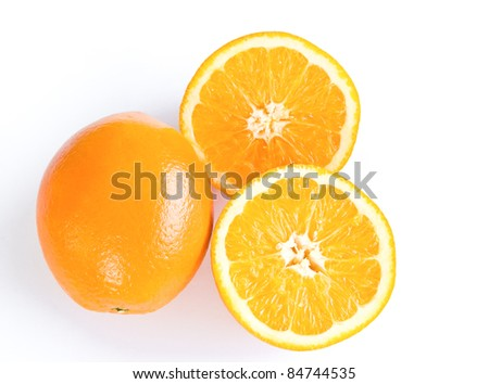 orange fruit isolate on white background