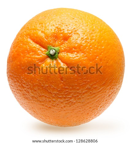 Orange fruit isolated