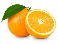 Orange fruit isolated on white background