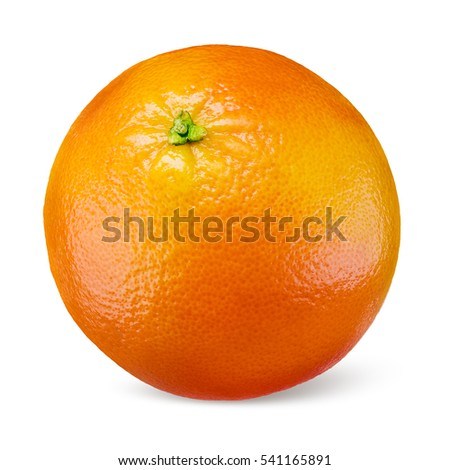 Orange fruit isolated on white background. #541165891