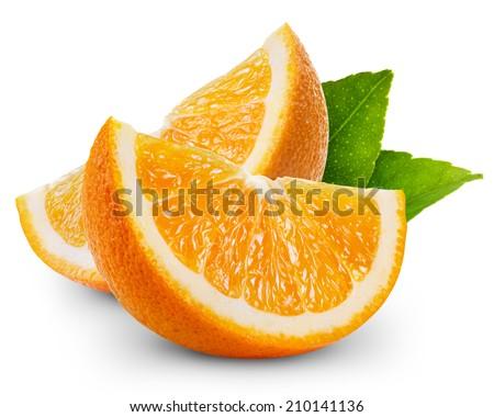 orange fruit slice isolated